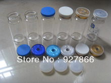 100sets 10ml Clear Glass Vials with Silicone Stopper & Flip Off Caps, Cosmetic/Injection glass bottles with Crimp Neck,100% New(China (Mainland))