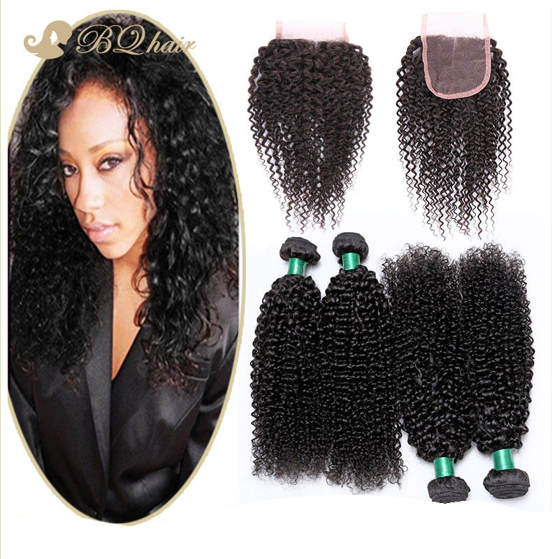 Cheap 7A Malaysian Kinky Curly 4 Bundles With Closure Unprocessed Malaysian Virgin Hair Lace Closure With Human Hair Weaves<br><br>Aliexpress