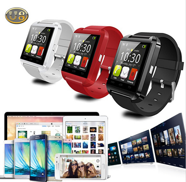 Bluetooth <font><b>Smart</b></font> Watch WristWatch U8 U Watch for Samsung HTC Huawei <font><b>LG</b></font> Xiaomi Android <font><b>Phone</b></font> Smartphones Support Sync Call Message