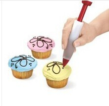 Silicone Cake Cookie Pastry Icing Decorating Syringe Cream Chocolate Plate Pen    020084
