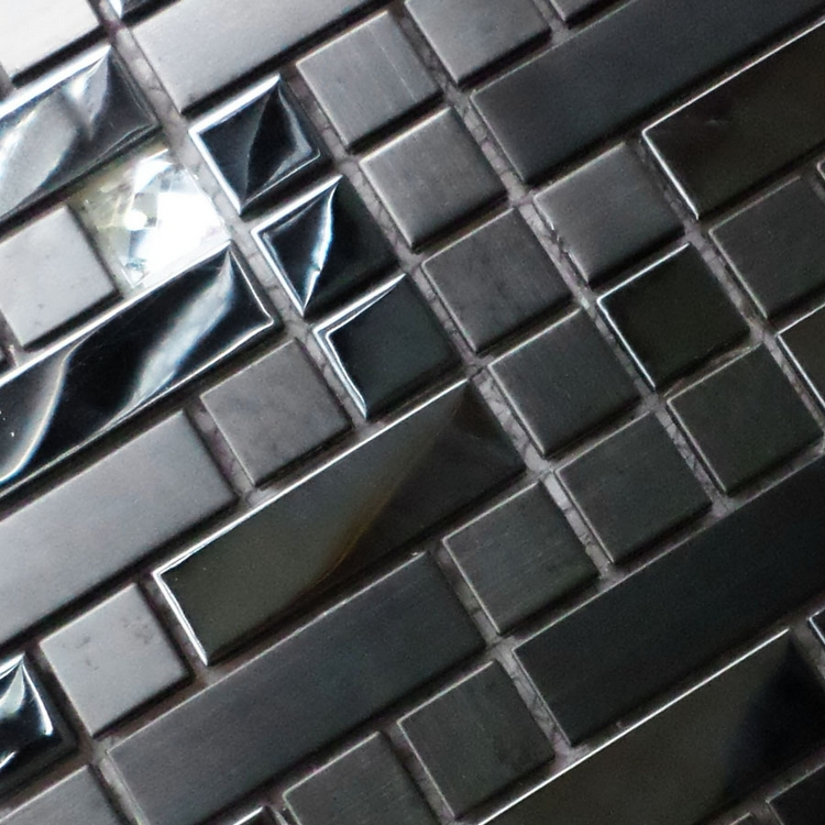 black color stainless steel mixed diamond strip metal tiles for kitchen backsplash wall mosaic bathroom shower tiles dining room<br><br>Aliexpress