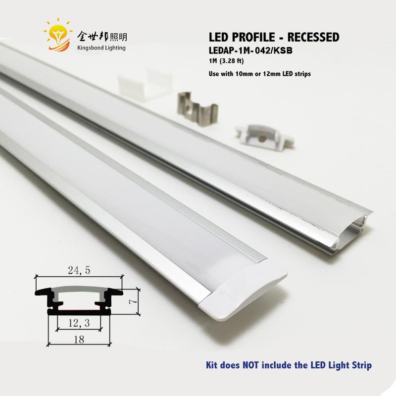10pcs*1 meter recessed aluminum led profile, aluminum channel for led strip lignt led bar light width 10mm-12mm<br><br>Aliexpress