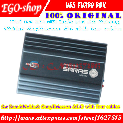 100%Original New UFS Turbo box UFS HWK BOX for Sam&NK& SonyEricsson UFST Box (Packaged with 4 cables)(China (Mainland))