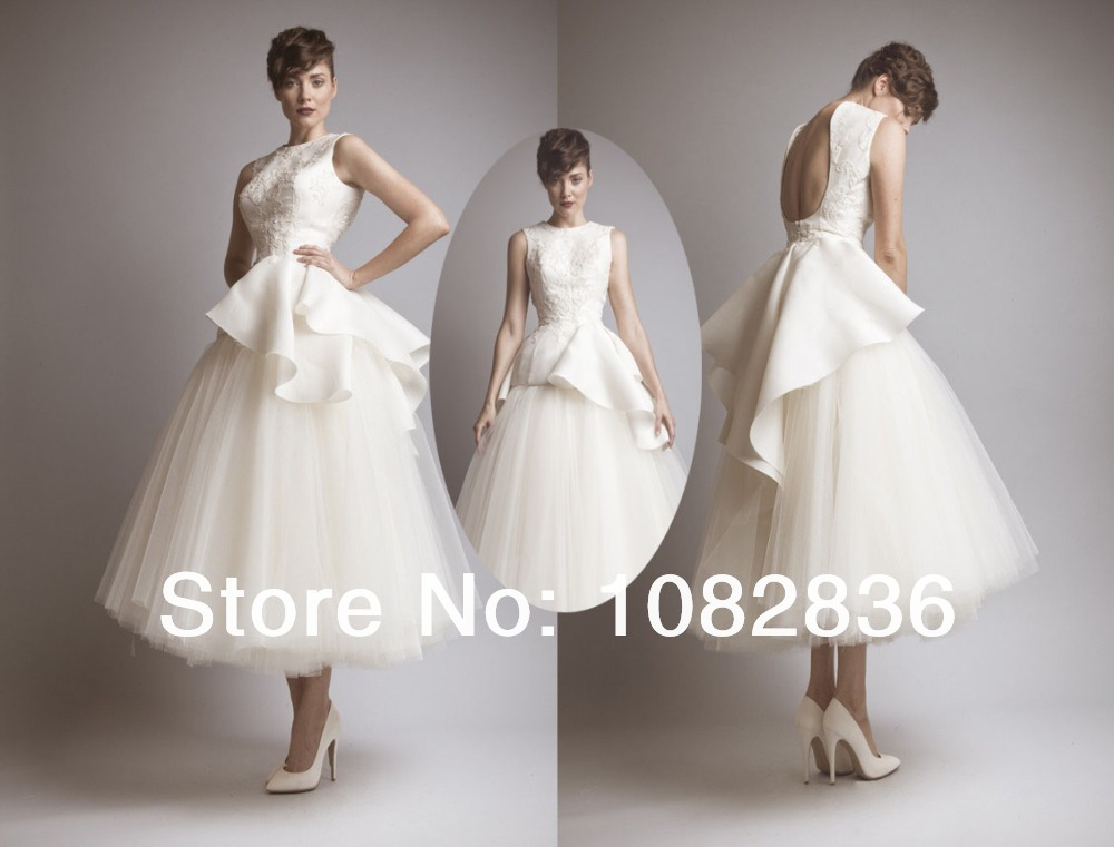 Saudi arabia style 2014 ashi studio ball gown high neck for Calf length wedding dresses