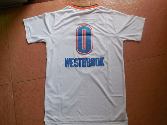 Best Quality Basketball Jersey Oklahoma #0 City Hot Sale Thunders Mesh Authentic With Famous Brand Logo summer style(China (Mainland))