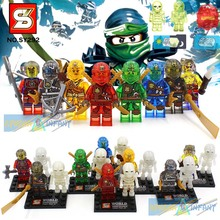 SY272 SY282 SY285 ninja Minifigures Cole Kai Jay Lloyd Nya Skylor Zane Pythor Chen Building Blocks MiniFigures(China (Mainland))
