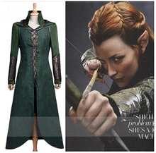The Hobbit Tauriel Silvan Elves cosplay costume for women.