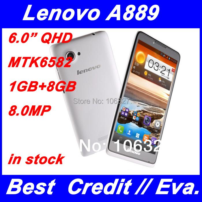 Lenovo A889 3G Smartphone MTK6582 Quad Core 1.3GHz 6 inch 960x540 1G RAM 8G ROM 8.0MP Android 4.2 WCDMA WiFi GPS Russian/Eva(China (Mainland))