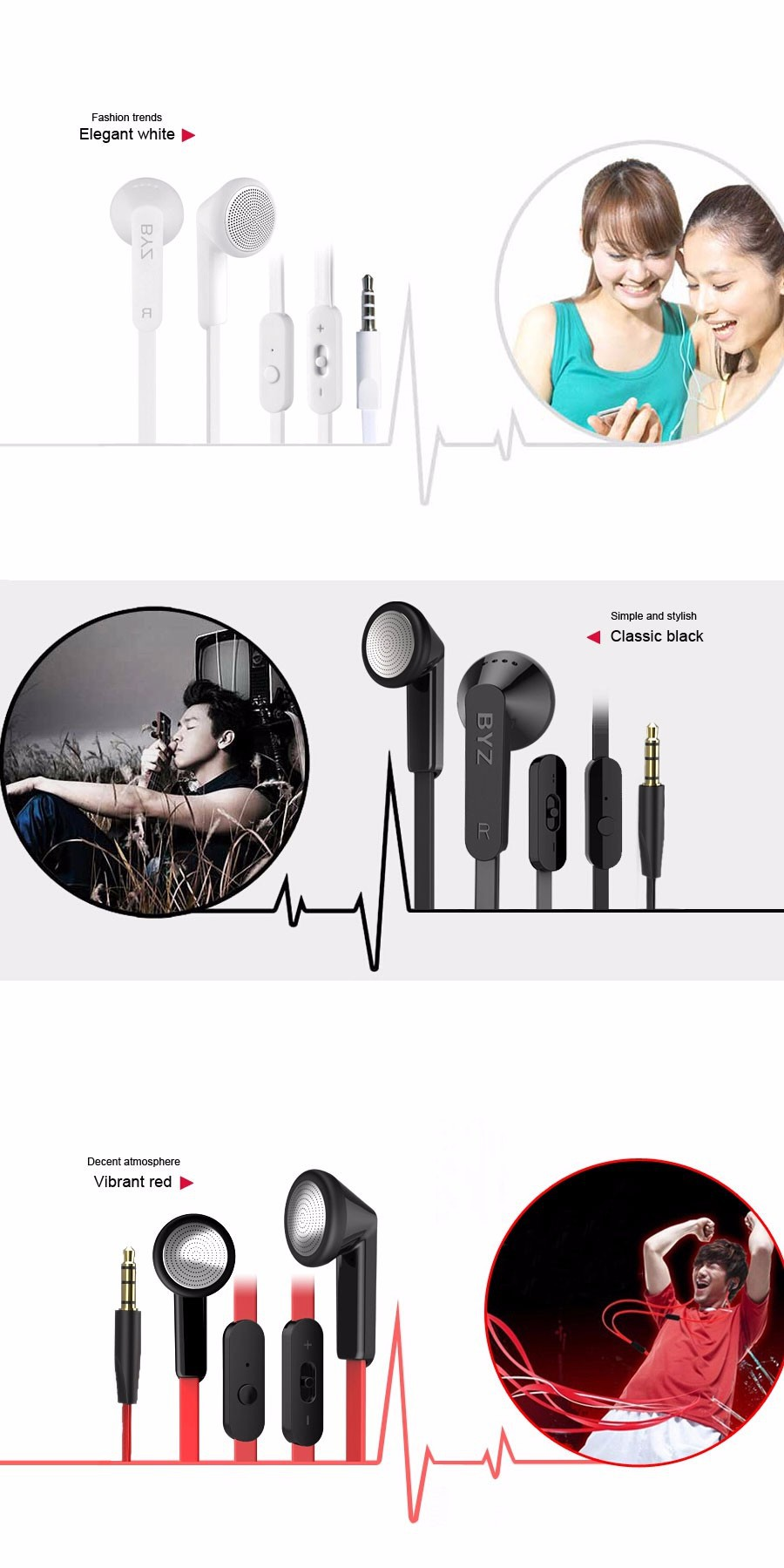 Original BYZ S600 Noodles Earphone Headsets with Microphone For Mobile Phone SAMSUNG GALAXY S3 S4 Note3 Iphone 6 5 Smartphones