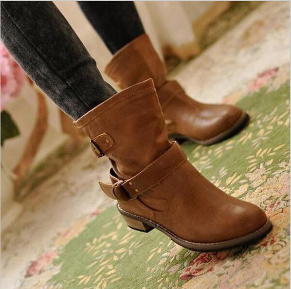 2015 новая женщина женская обувь Zapatos Mujer Chaussure женщин-сапоги ботильоны бота сапогах свободного покроя дамы мартин сапоги Q213