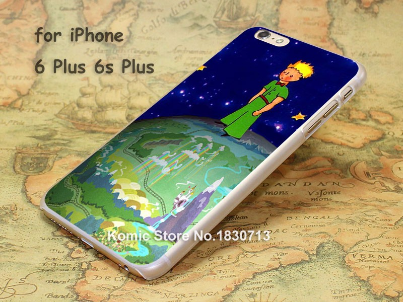 the littlw prince in blue sky Pattern hard transparent clear Cover Case for iPhone 4 4s 5 5s 5c 6 6s 6 Plus