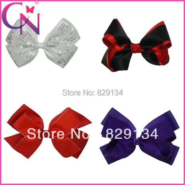 Ribbon bow boutique hair bows with clips for girls CNHB-131153()