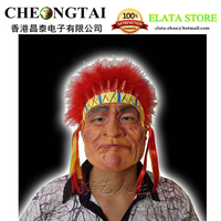 2016 free shipping 1pcs/lot American Indian  face mask - Halloween Celebrities latex mask party mask festival mask performances