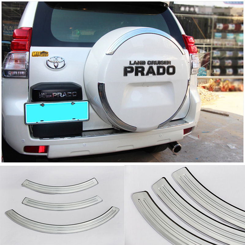 Newest Car Covers FJ 150 Toyota Land Cruiser Prado Accessories 2010-2015 Chrome Spare Tyre Tire Cover Garnish(China (Mainland))