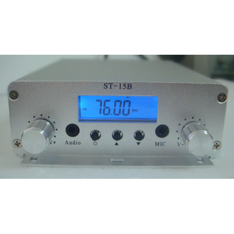 ST-15BV3 15W 76~108Mhz LCD Digital PLL stereo high-power FM transmitter amplifier(China (Mainland))