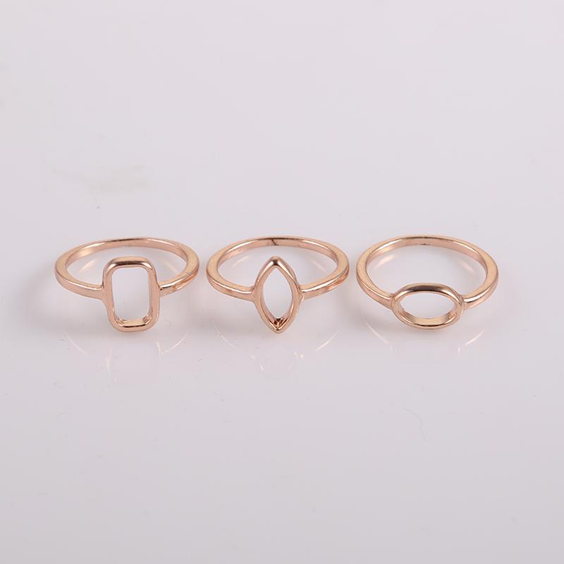 30pcs Set Simple Designed Geomtric Shape Ring Size 6.5 Gold Pinky Rings Women Free Shipping(China (Mainland))