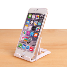 Foldable phone holder Universal White Flexible Desk Mobile Phone Stand For iPad iPhone HUAWEI HTC Samsung Cellphone Tablet Stand