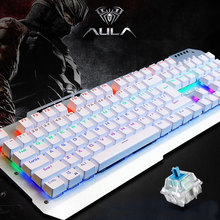 AULA F2008 104 Key USB Wired Rainbow Backlight Mechanical Gaming Keyboard Blue Switches For Computer(China (Mainland))
