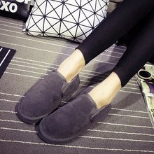 2016 de Corea Del invierno de la nieve botas zapatos de mujer gris de piel caliente botas de otoño e invierno mujer resbalón en negro tobillo botas(China (Mainland))