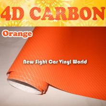 Buy High Orange 4D Carbon Fiber Vinyl Car Wrap Orange 4D Carbon Fiber Film Car Stickers Air Free Size:1.52*30m/Roll for $125.60 in AliExpress store