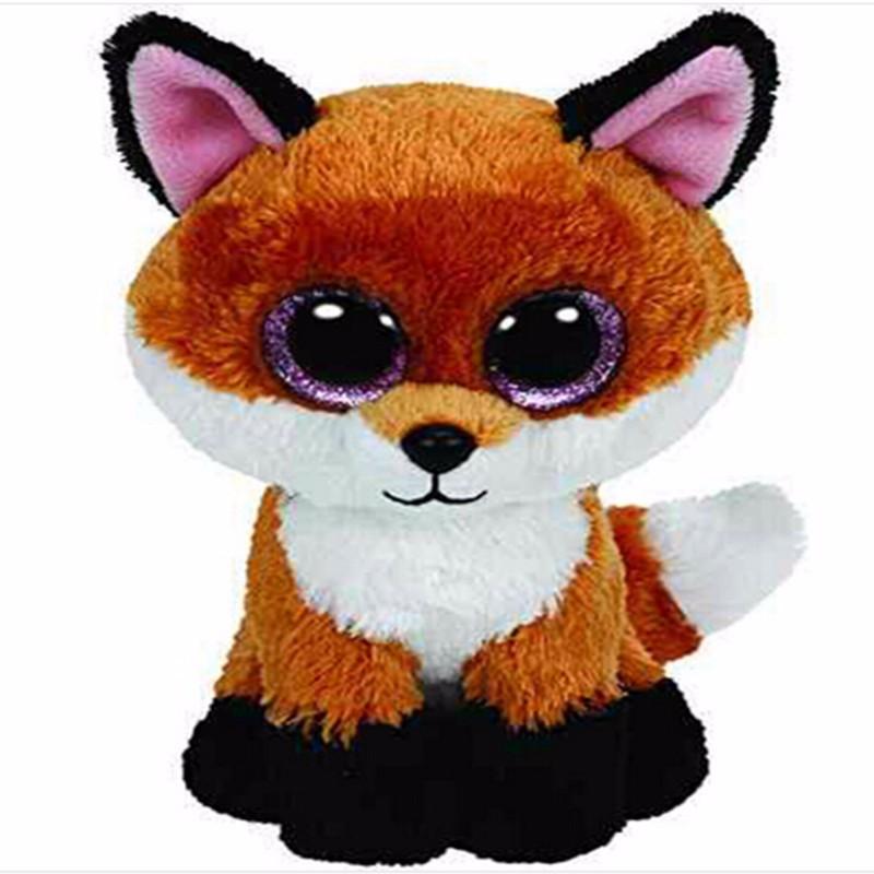 Ty Beanie Boos Original Big Eyes Plush Toy Doll Child Birthday Gray Elephant TY Baby 15cm  plush toy L196