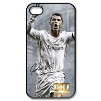 hot 1pcs/lot New Cristiano Ronaldo CR7 Real Madrid case for iPhone4 4s  5 5G 6+Free shipping