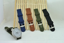 2015 New Arrival high quality nylon watch strap 18mm 20mm 22mm 24mm multi color for women