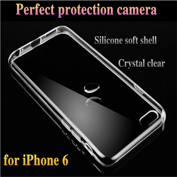 Super Flexible Clear TPU Case For Iphone 6 4.7inch Slim Crystal Back Protect Skin Rubber Phone Cover Fundas Silicone Gel Case(China (Mainland))