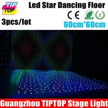 3xlot Guangzhou TIPTOP Stage Light 60cm x 60cm Wedding Disco Dancing Floor Star Effect White / RGB Color Party Show Outdoor Type(China (Mainland))