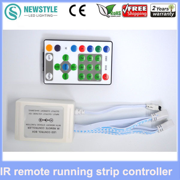 25 keys IR Remoter+12V 9 Channel 324W controller LED running strip controller ribbon Led Strip controller infrared ray(China (Mainland))