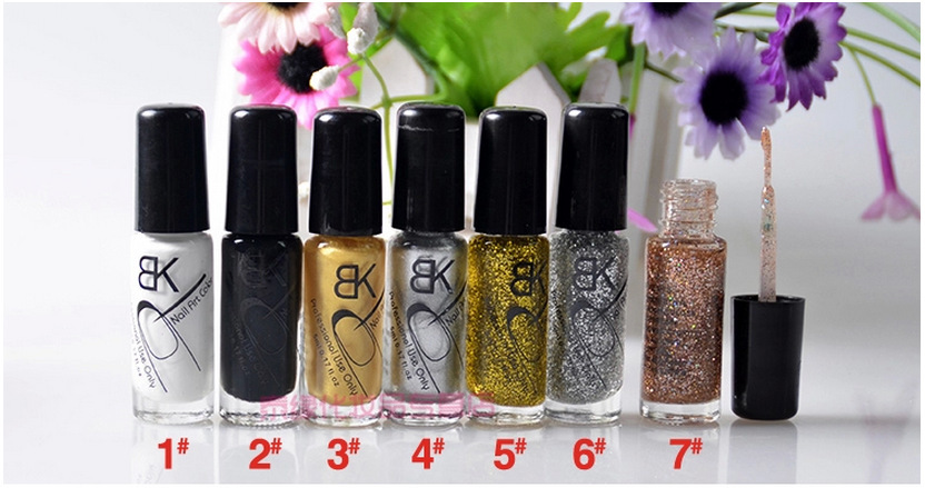 6 Pcs Golden Gel Nail Polish Wsmalte Para Unha Esmaltes Lot Vernis A Ongle Gelishgel Nail Art Pen Varnish Acrylic Paint NA-077(China (Mainland))