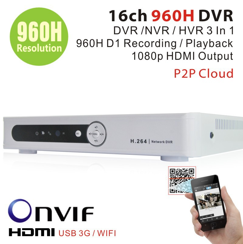 Home Surveillance 16ch 960H full D1 security DVR HDMI 1080P 16channel DVR NVR For security IP camera onvif CCTV DVR Recorder(China (Mainland))