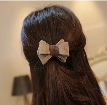 2015 latest cute sense H006 suede matte leather bow hair band rubber band Tousheng Russia(China (Mainland))