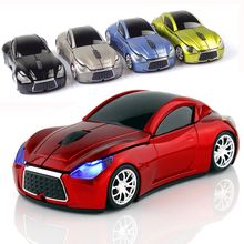 New Fashion Infiniti Sports Car Shape 2.4GHz Wireless Mouse 1600DPI Optical Gaming Mouse Mice for computer PC free shipping(China (Mainland))