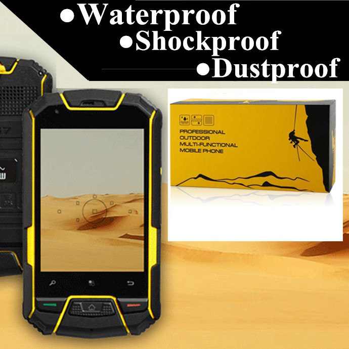 ip67 original snopow M6 dustproof android smartphone waterproof shockproof phone rugged cell phone outdoor android mobile phone(China (Mainland))