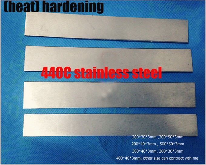 Buy HRC58-60  (heat) hardening 440C stainless steel plate bar rod knife DIY blade More size choose   cutter blank cheap