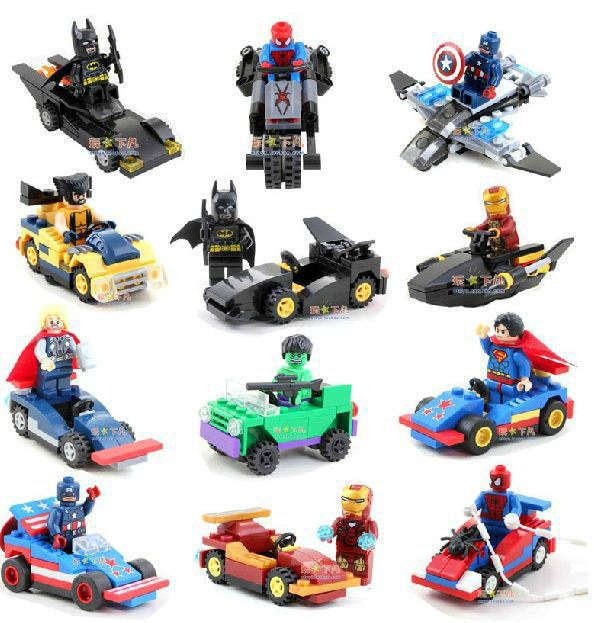 Hot Avengers 12 Figures & 12 Vehicles Marvel Comics Super Heroes Building Bricks Block Set Figures DIY Toys Christmas Gifts(China (Mainland))