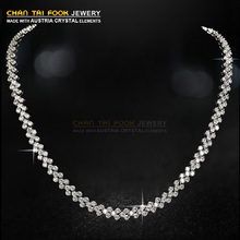 New fashion luxury brand Wedding statement necklace Jewelry for women vintage AAA Zircon crystal necklaces & pendants(China (Mainland))