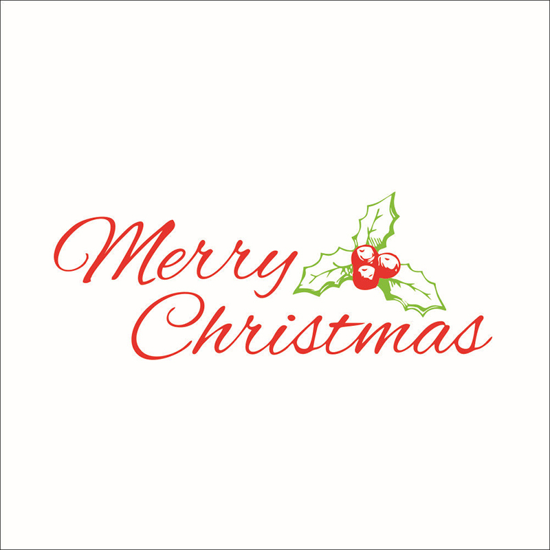 Merry christmas tree xmas mural wall sticker removable for Christmas wall mural plastic