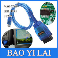Vagcom Vag com VCDS Fidi FT232 FT232RL Chip Vag-Com 409.1 KKL OBD 2 USB VAG409.1 Cable Scanner Interface For Audi/VW/Skoda/Seat