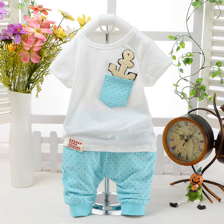 Summer Children Clothing Sets Boys Girls Cotton Short-sleeve Pullover T-shirts+ Pants Baby Sports Suits Pocket Kids Clothes - Taxidi Moda Speciality Store store