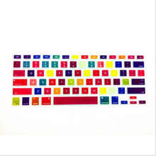 (30pcs) Gradient-grain Rainbow Silicone Laptop keyboard Skin Protector Cover Guard For Apple Mac book Pro Air Retina 13 15 17