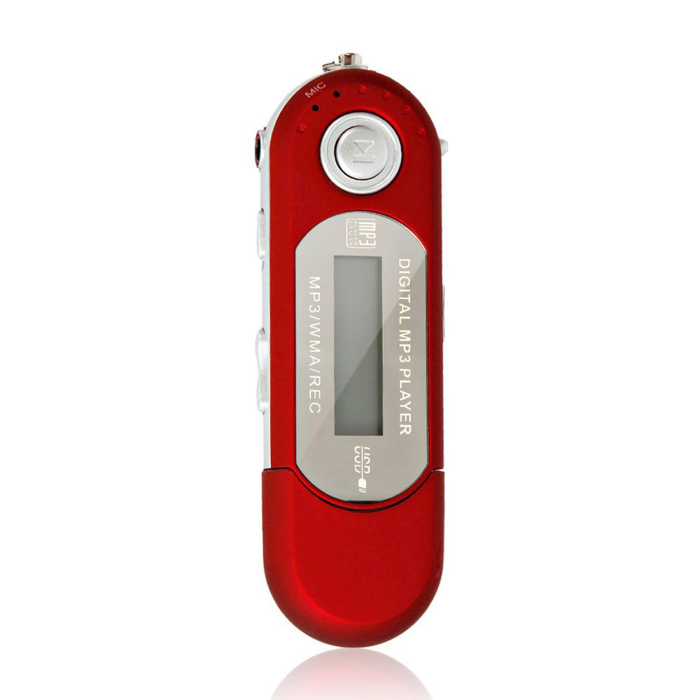New Red 4GB USB 2.0 Mp3 Music Player With Fm Radio Function Voice Recorder(China (Mainland))