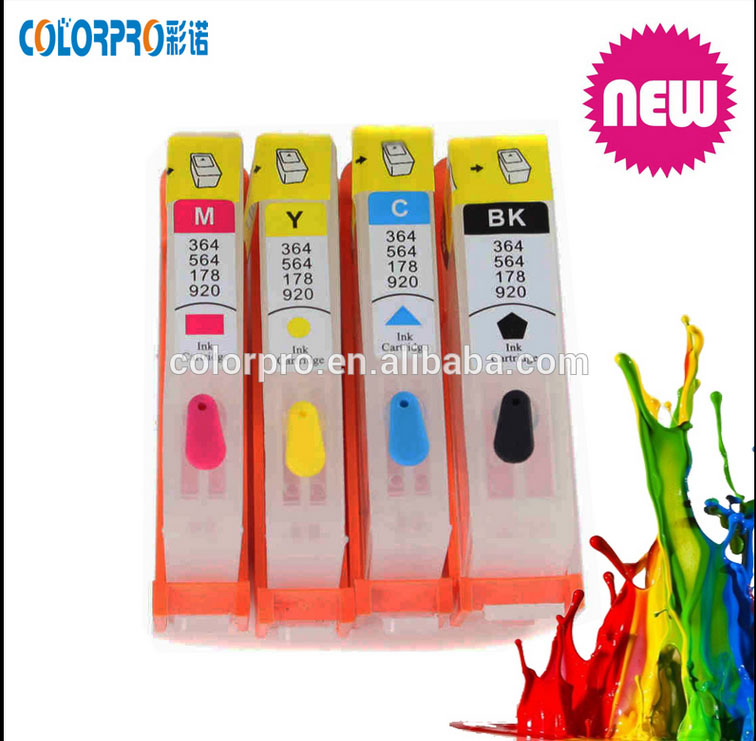 2016 sale 1pcs C/color refillable ink cartridge for HP 920 564 178 364 655 670 685 without chip and ink(China (Mainland))