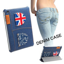 New Arrival Denim Flip Smart cover for Apple iPad mini 1 2 3 Case Sleep Wake(China (Mainland))