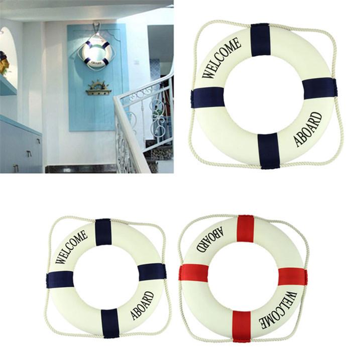 Novel designs 2015 European Decorative Cloth Life Ring Navy Accent Nautical Decor Unique Home Decor(China (Mainland))
