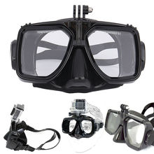 Diving Equipment Camera Mount Silicone Diving Mask Scuba Snorkel Swimming Goggles For GoPro Hero 2 3 3+ 4 for Sports Camera(China (Mainland))