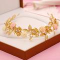 140 bridal headdress hair accessories retro matte gold porcelain flower alloy rhinestone bridal accessories bridal jewelry