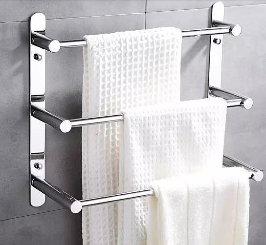 48 cm lengte 304 rvs handdoek ladder handdoekenrek multifunctionele handdoek bars voor familie - Badkamer in lengte ...