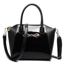 Buy MISS LULU Women Designer Celebrity Plain Black Handbag Patent Leather Messenger Cross Body Shoulder Satchel Bag Small E1639 BK for $38.21 in AliExpress store